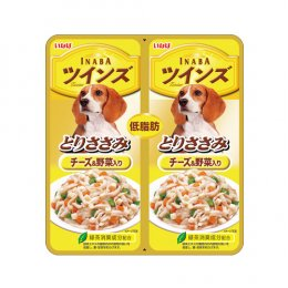 INABA Dog Food Pouch Chicken Fillet Cheese & Vegetable (40 g. x 2)