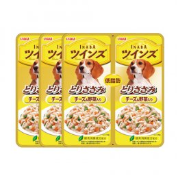 INABA Dog Food Pouch Chicken Fillet Cheese & Vegetable (40 g. x 2) x 3 Packs