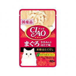 CIAO Cat Food Pouch Tuna & Chicken Fillet with Scallop Taste (40 g.)