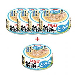 INABA Cat Food Canned Tuna White & Red with Shirasu (125 g. x 5)