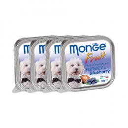 Monge Fruit Pate and Chunkies with Turkey & Blueberry (100 g. x 4)