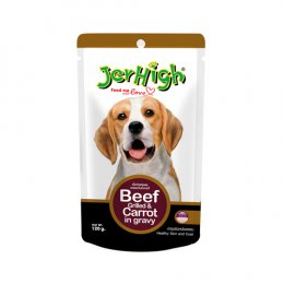Jerhigh Pouch Beef Grilled & Carrot in Gravy (120 g.)