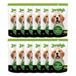 Jerhigh Pouch Chicken and Vegetable in Gravy (120 g.) x 12 Pcs.