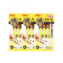 CIAO Cat Snack Churu Grilled Tuna with Maguro 12 g. (4 pcs./Pack) x 3 Packs