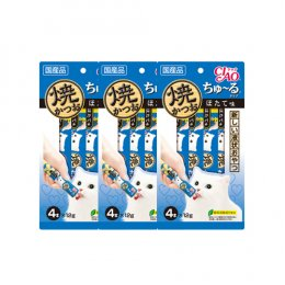 CIAO Cat Snack Churu Grilled Tuna with Scallop 12 g. (4 pcs./Pack) x 3 Packs