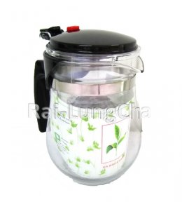 กาชงชาแก้วใส (Glass Filtering Tea Pot Set)