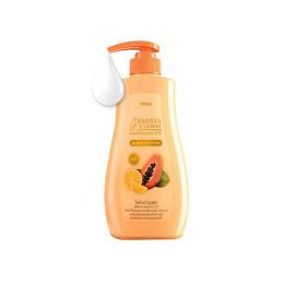 Mistine Papaya and Lemon Whitening UV Body Lotion 400 ml.
