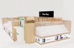 ออกแบบร้าน ตกแต่งร้าน iphone shop ตึกคอม จ.อุดรธานี