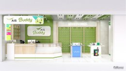 รวมผลงานออกแบบร้าน ais  buddy shop หลากหลายดีไซน์