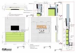 ออกแบบ ผลิต และติดตั้งร้าน : ร้าน Freeza Thailand ประเทศบาร์เรน