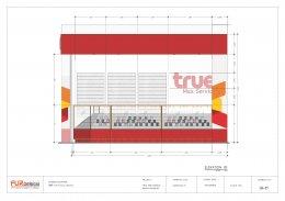 ออกแบบ ผลิต และติดตั้งร้าน : ร้าน True by Max Service เมืองกาญจน์