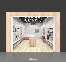 Design, manufacture and installation of stores: Gadget Play Store, Fortune Mall, Bangkok.