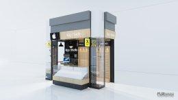 ออกแบบร้านจำหน่ายมือถือ ร้าน app studio ห้างสรรพสินค้าแหลมทองศรีราชา  จ. ชลบุรี
