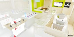 ออกแบบร้านจำหน่ายมือถือ ร้าน PHONE SHOP