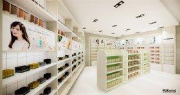 ออกแบบ 3D ร้านจำหน่ายผลิตภัณฑ์เพื่อสุขภาพ ความงาม และสินค้าอุปโภค บริโภค ร้าน AURA SHOP