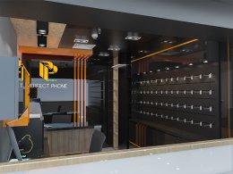 ออกแบบ 3D และติดตั้งร้านจำหน่ายมือถือ ร้าน PERFECT PHONE ห้างมาบุญครอง (MBK) กรุงเทพมหานคร