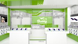 Design, manufacture and installation of stores: AIS Buddy by Phone Phone Shop, Bang Pa-in, Phra Nakhon Si Ayutthaya.
