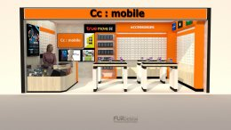Design, manufacture and installation of stores: CC Mobile Shop Tesco Lotus, Taphan Hin, Prachuap Khiri Khan