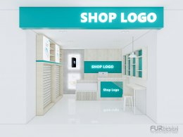 Shop Set Design: Example of shop design, shop display by budget according to style