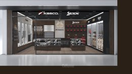Design, manufacture and installation of stores: Kasco shop selling golf equipment, Thaniya, Bangkok.