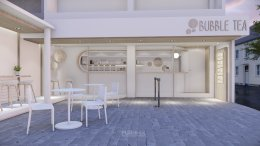 Design, manufacture and installation of stores: Bubble Tea Shop, Bangsaen, Chon Buri