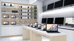 Design, manufacture and installation of stores: Siam Macintosh Shop, The Walk Ratchaphruek