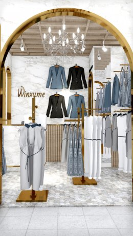 Design, manufacture and installation of stores: Winxyme stores, Fashion Island