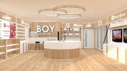 Design, manufacture and installation of stores: Boy Electronic Shop, Trat Province