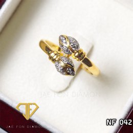 แหวนเพชรเบลเยี่ยมแท้ น้ำ 98
