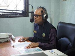 ให้สัมภาษณ์สื่อวิทยุเรื่องการประชาสัมพันธ์การใช้น้ำอย่างประหยัด