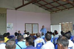 ประชุมเวทีประชาคมแผนงานพัฒนาปากคลองหนองปลาหมอ