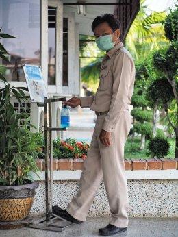 คบ.สุโขทัย จัดตั้งจุดบริการเจลแอลกอฮอล์ล้างมือ