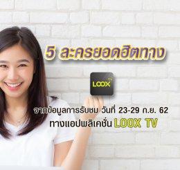 LOOX TV เรตติ้ง 23-29 ก.ย.62