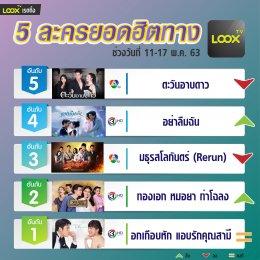 5 อันดับฮอตฮิตบน  LOOX TV  วันที่ 11-17 พ.ค. 63