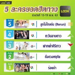 5 อันดับฮอตฮิตบน  LOOX TV  วันที่13-19 เม.ย.63
