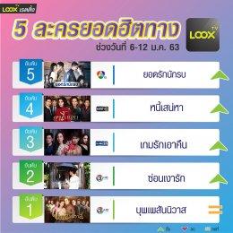 5 อันดับฮอตฮิตบน  LOOX TV  6-12 ม.ค.63