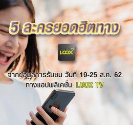 LOOX TV เรตติ้ง 19-25 ส.ค. 62