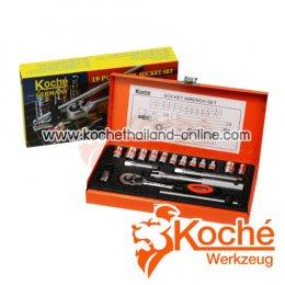 KCH017S บล็อกชุด 19 ตัว SQ-DR.1/4 นิ้ว
