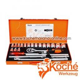 KCH034 บล็อกชุดหุน 25 ตัว SQ-DR.1/2 นิ้ว