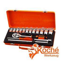 KCH037 บล็อกชุด 17 ตัว SQ-DR.1/2 นิ้ว