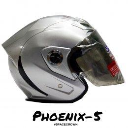 หมวกกันน็อคสเปซคราวน์ เปิดหน้า Phoenix-5 สีบรอนซ์