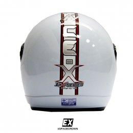 หมวกกันน็อคสเปซคราวน์ เปิดหน้า EX สีขาว