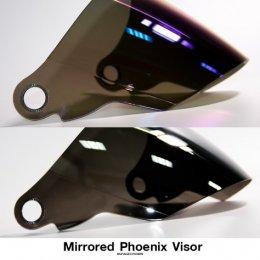 ชิลด์/หน้าแว่นอะไหล่ หมวกกันน็อค สีปรอทเงิน-ปรอทรุ้ง รุ่น Phoenix-1, Phoenix-5, Phoenix-D