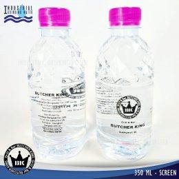 ตัวอย่างผลงานการผลิตน้ำดื่ม (สกรีนบนขวด)