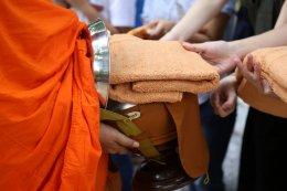 พิธีทำบุญตักบาตร เนื่องในวันอาสาฬหบูชา  วันที่ ๒๗ กรกฏาคม๒๕๖๑ วัดสระเกศ ราชวรมหาวิหาร