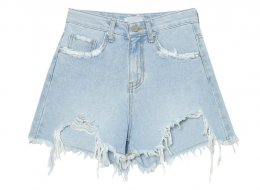 stylenanda Vintage Distroid cut-out denim shorts #soft S