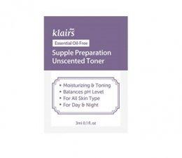 Klairs Supple preparation Unscented toner 3ml*10ea