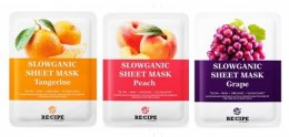 Recipe slowganic sheet mask #Peach