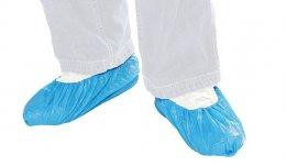หจก.เจไออี เซ็นเตอร์มอบถุงคลุมรองเท้าจำนวน 650 คู่