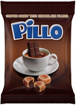 Pillo Coffee Candy with Chocolate Filling